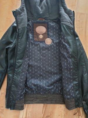 Naketano Faux Leather Jacket black