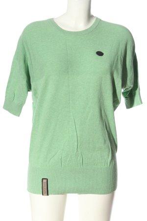 Naketano Pull à manches courtes vert moucheté style décontracté