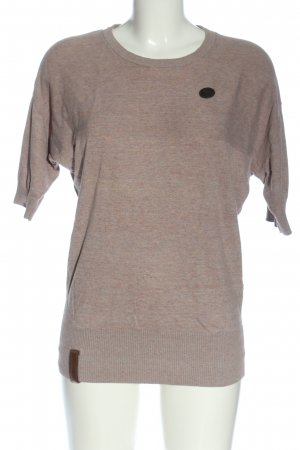 Naketano Maglione a maniche corte grigio chiaro puntinato stile casual