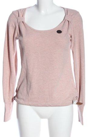 Naketano Langarm-Bluse pink meliert Casual-Look
