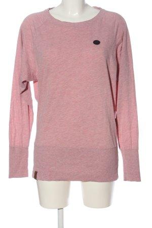Naketano Koszulka z długim rękawem różowy Melanżowy W stylu casual
