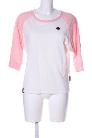 Naketano Longsleeve weiß-pink meliert Casual-Look