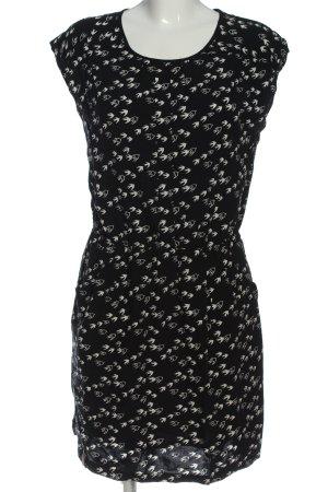 Naketano Minikleid schwarz-weiß Allover-Druck Casual-Look