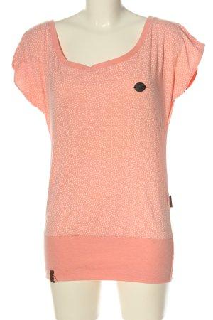 Naketano Print-Shirt nude-weiß Allover-Druck Casual-Look