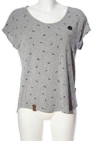 Naketano Print-Shirt hellgrau-schwarz Animalmuster Casual-Look