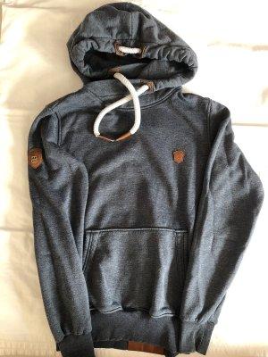 Naketano Sweter z kapturem ciemnoszary-brązowy