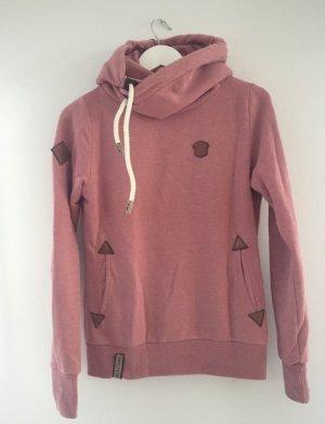 Naketano Hooded Sweatshirt pink-rose-gold-coloured