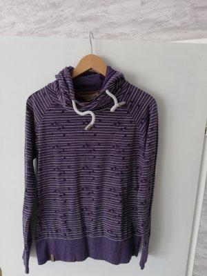 Naketano Capuchon sweater lila Gemengd weefsel