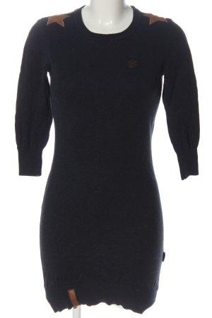 Naketano Swetrowa sukienka czarny Melanżowy W stylu casual