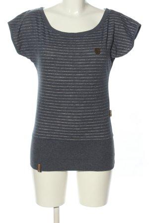 Naketano Koszulka w paski niebieski-biały Wzór w paski W stylu casual