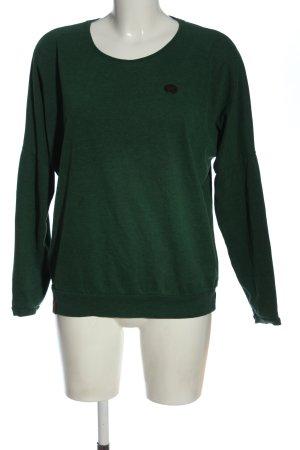 Naketano Maglione girocollo verde puntinato elegante