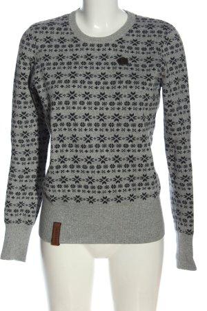 Naketano Sweter z okrągłym dekoltem Na całej powierzchni W stylu casual