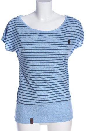 Naketano Schlupf-Bluse blau Allover-Druck Casual-Look