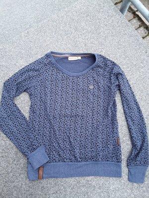 Naketano Shirt Langarm Größe L Blau Neuwertig