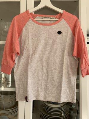 Naketano Shirt mit 3/4 Arm, beige/coral, Gr. S