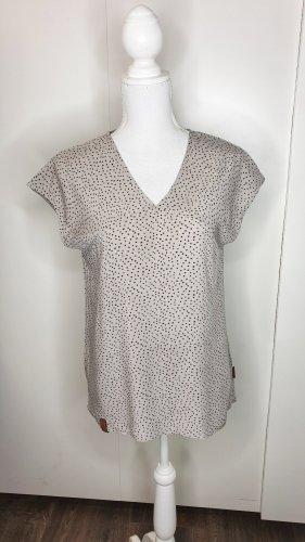 Naketano Shirt XS Sterne hellbraun/schwarz V-Ausschnitt