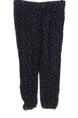 Naketano Pantalone jersey blu-bianco stampa integrale stile casual