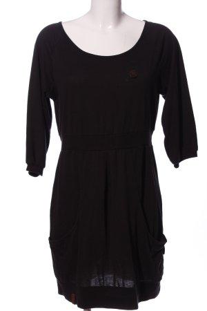 Naketano Vestido de tela de jersey negro look casual