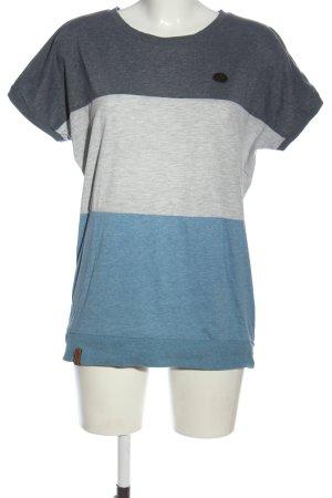Naketano Koszulka z dzianiny niebieski-jasnoszary Melanżowy W stylu casual