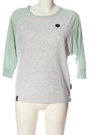 Naketano T-shirts en mailles tricotées gris clair-vert moucheté