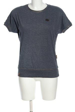 Naketano Strickshirt blau meliert Casual-Look