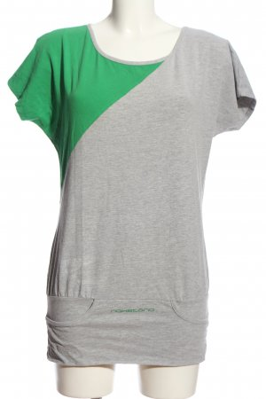 Naketano Longshirt hellgrau-grün meliert Casual-Look