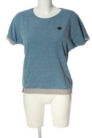 Naketano Strickshirt blau-hellgrau meliert Casual-Look