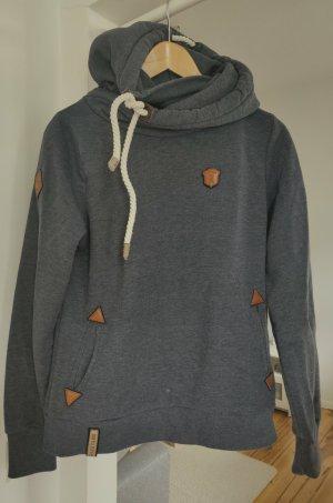 Naketano Bluza z kapturem niebieski-brązowy