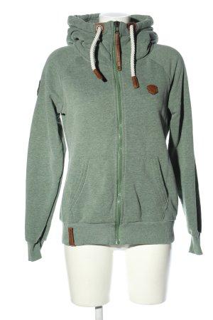 Naketano Sweat Jacket khaki flecked casual look