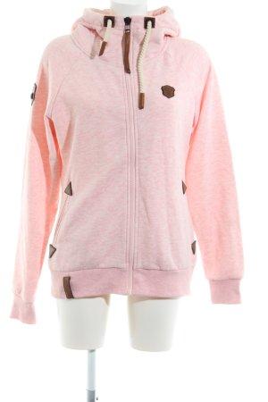 Naketano Chaqueta de tela de sudadera rosa-marrón look casual