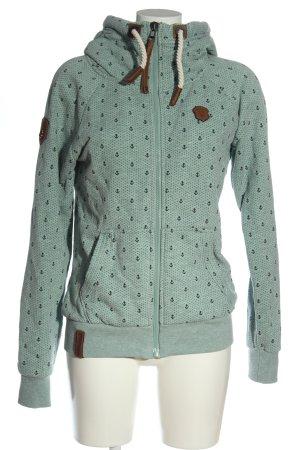 Naketano Sweat Jacket turquoise themed print casual look