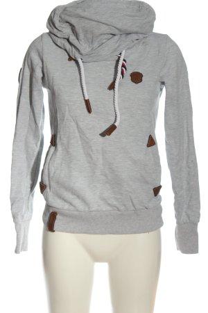 Naketano Felpa grigio chiaro puntinato stile casual