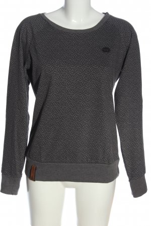 Naketano Sweatshirt hellgrau Allover-Druck Casual-Look