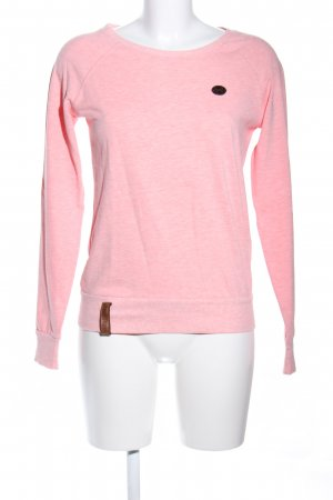 Naketano Sweatshirt pink meliert Casual-Look