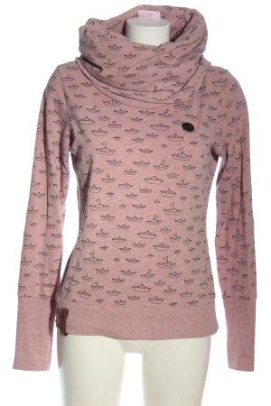 Naketano Bluza dresowa różowy Melanżowy W stylu casual