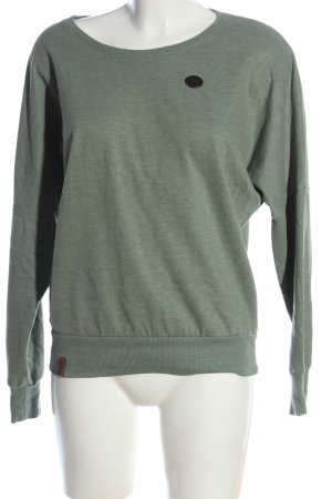 Naketano Sweatshirt grün meliert Casual-Look