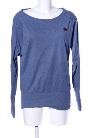 Naketano Sweatshirt blauw gestippeld casual uitstraling