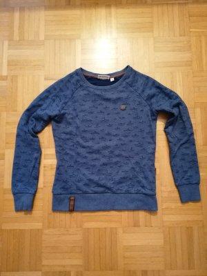 Naketano Sweatshirt dunkelblau mit Schiffchen-Print