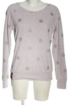 Naketano Bluza dresowa jasnoszary Wzór w kropki W stylu casual