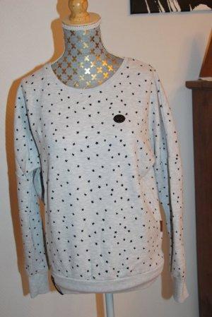 Naketano Sweatshirt gris clair-noir tissu mixte