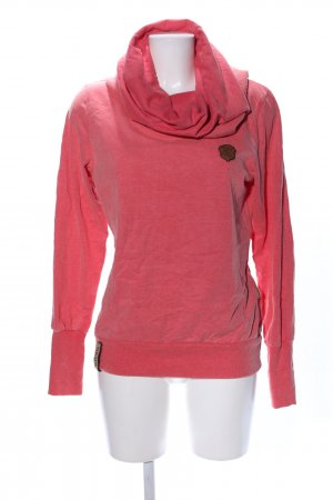Naketano Sweatshirt rot meliert Casual-Look