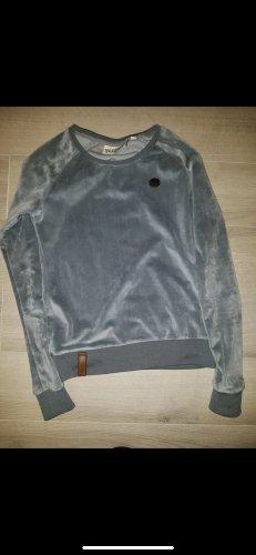Naketano Sweatshirt samtig graublau Gr S so nice