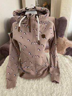 Naketano Sweatshirtjacke Gr M rosa mit Muster