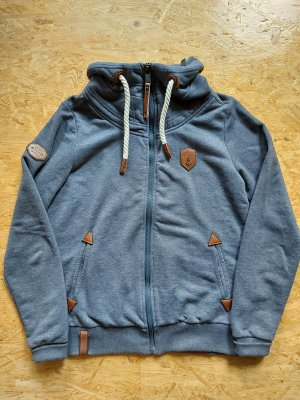 Naketano Sweatshirtjacke mit Kragen / neuwertig
