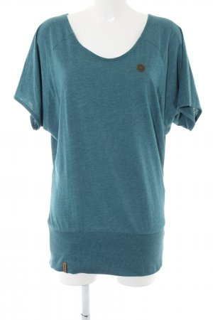 Naketano T-Shirt blau-türkis meliert Casual-Look