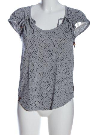 Naketano T-Shirt hellgrau-schwarz Allover-Druck Casual-Look