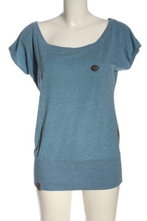 Naketano T-Shirt blau meliert Casual-Look
