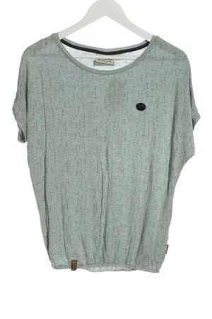 Naketano T-Shirt hellgrau meliert Casual-Look