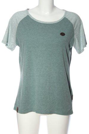 Naketano T-Shirt hellgrau-khaki meliert Casual-Look