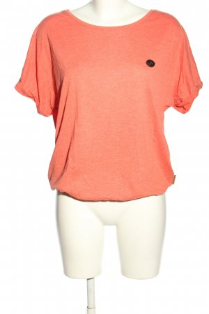 Naketano T-Shirt pink meliert Casual-Look